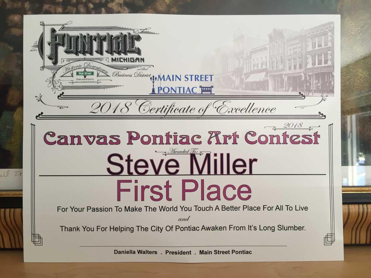 Canvas Pontiac – 1st Place